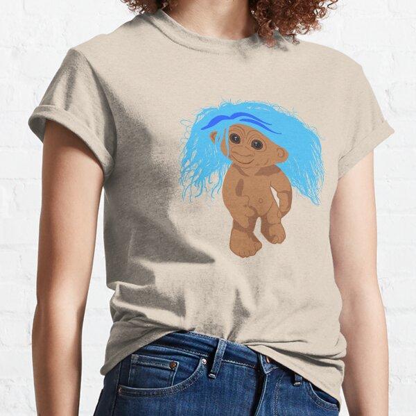 Transparent Background Blue Troll Doll Classic T-Shirt