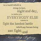 To Be Nobody-But-Yourself by Sara Machajewski
