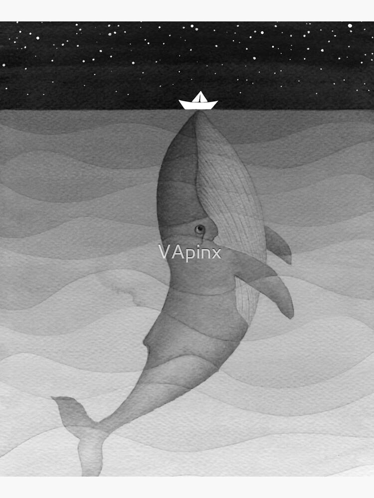 Whale, black & white by VApinx