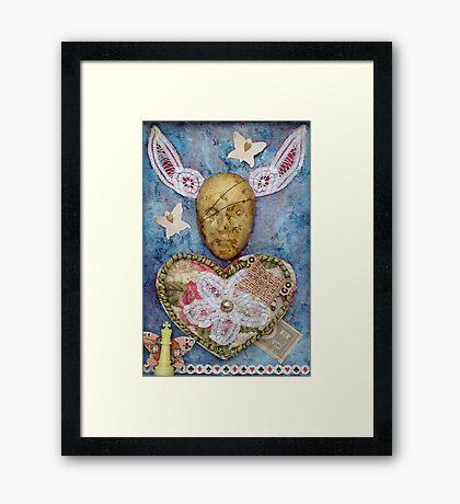 Love is a gamble Framed Print