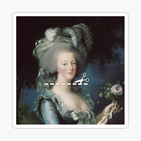 Cut Here - Marie Antoinette Sticker