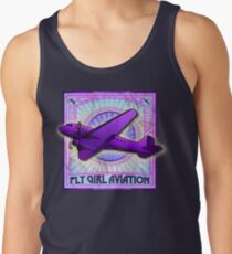 FLY GIRL AVIATION VINTAGE AIRPLANE GEAR Tank Top