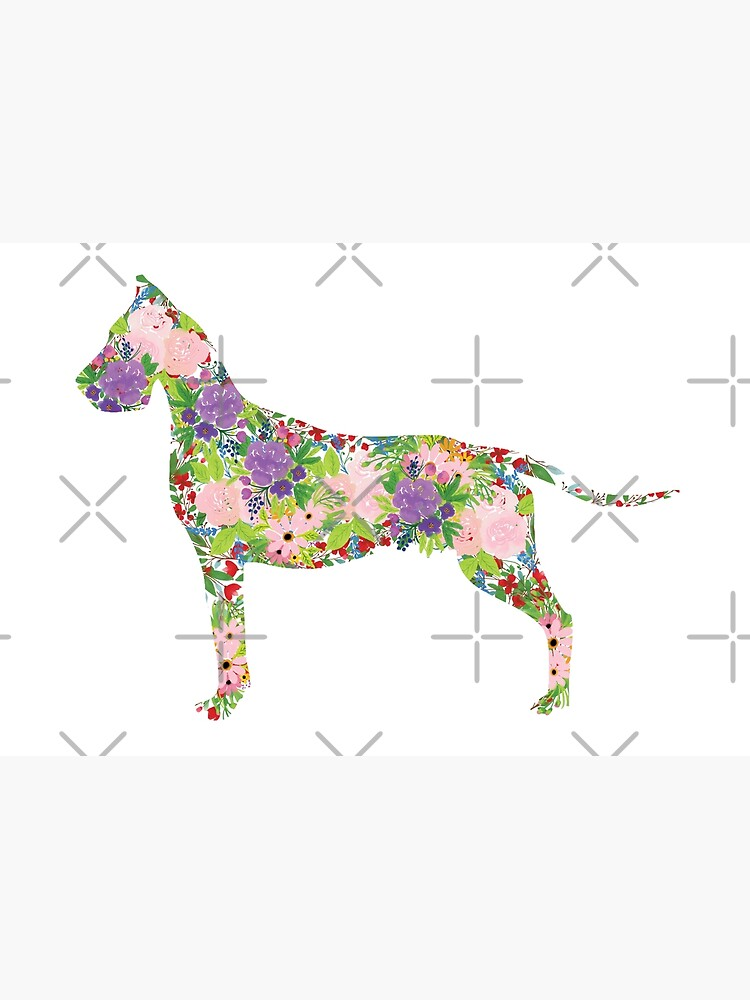 Floral Great Dane by tribbledesign