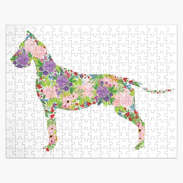 Floral Great Dane Jigsaw Puzzle
