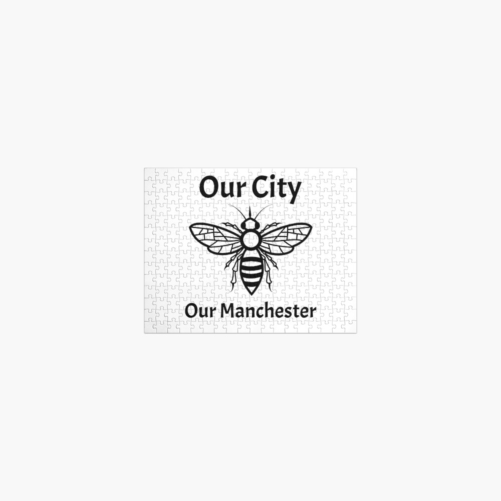 Our City, Our Manchester Bee Jigsaw Puzzle