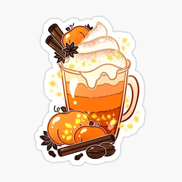 Autumn Magic Pumpkin Spice Latte Sticker