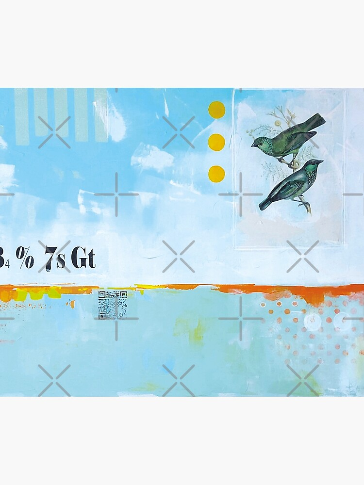 Picture of an original painting, blue birds by ColorsHappiness