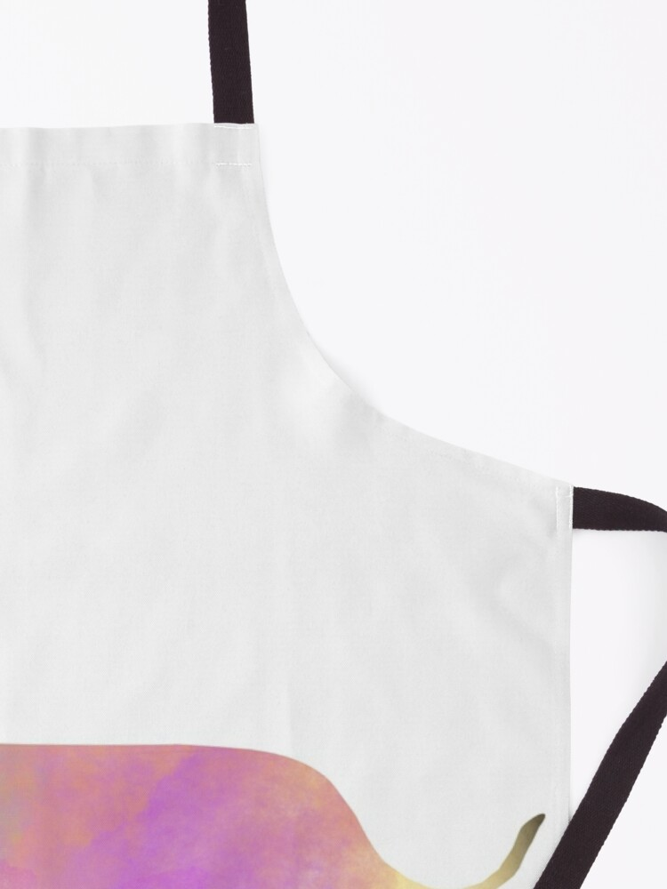 Alternate view of Watercolor Dachshund Apron