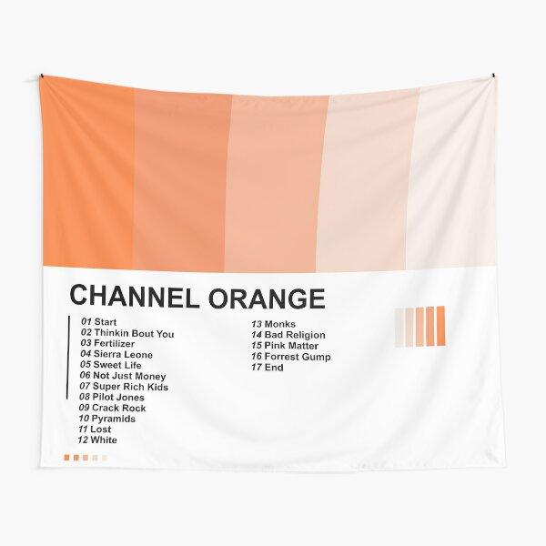 Ocean Channel Orange Tapestry