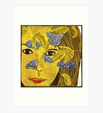 The Blue Butterfly Art Print