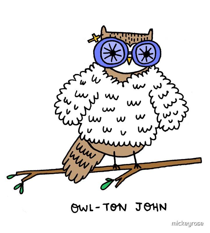 Owl ton john by mickeyrose