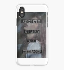 Society Killed the Teenager iPhone Case/Skin