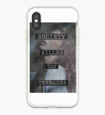 Society Killed the Teenager iPhone Case