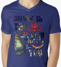 Camiseta para hombre de cuello en v Gurren Lagann Kamina Cita