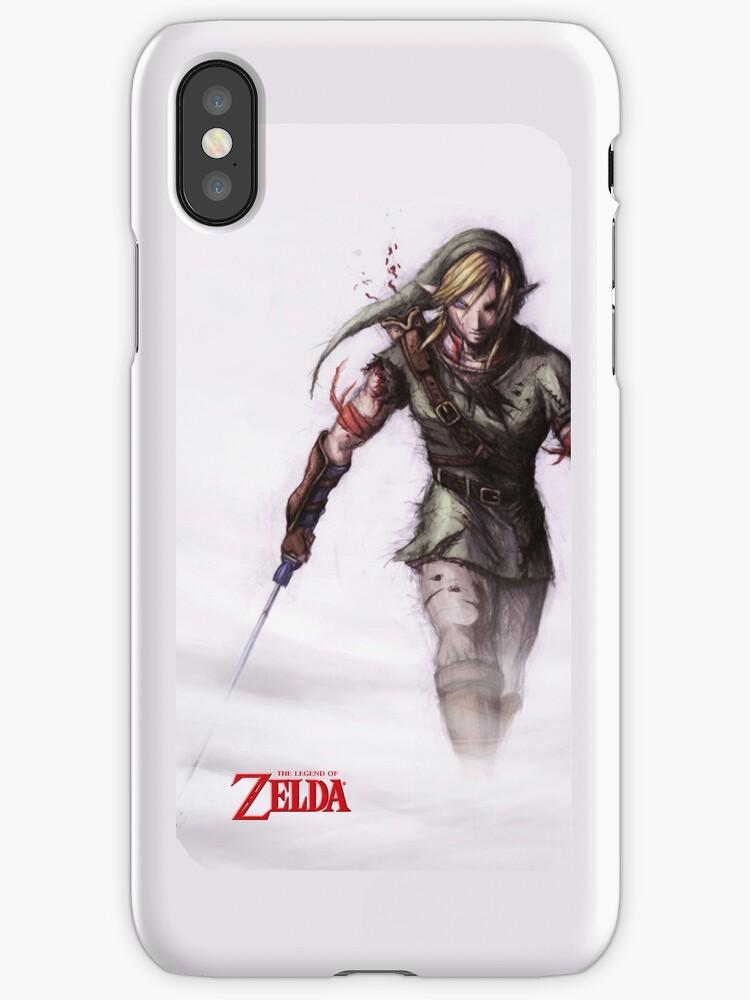 Zelda in the Mist White iPhone Case by TalkThatTalk