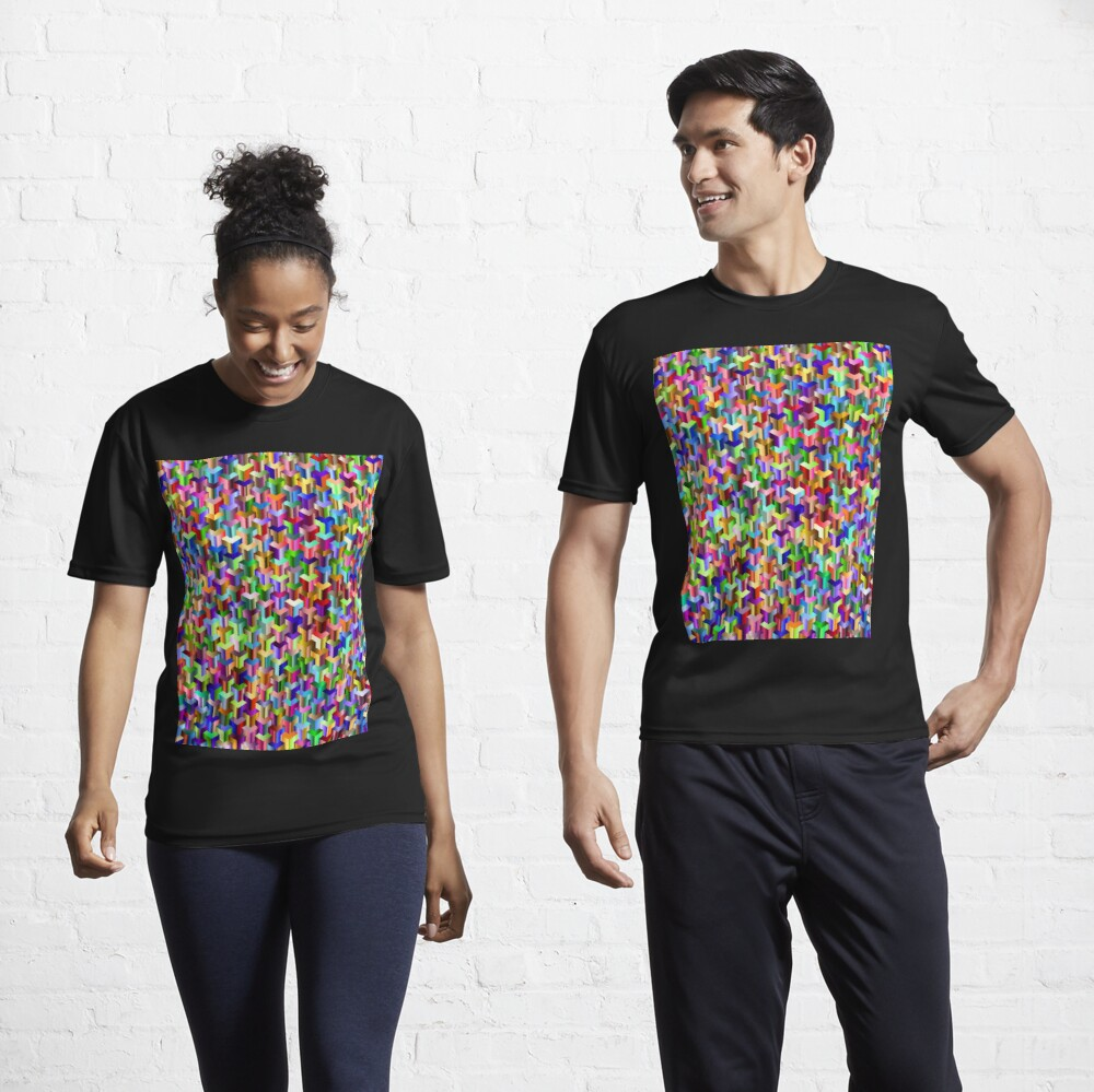 Visual Psychedelic Art, Easy Optical ILLusion Tessellation Active T-Shirt