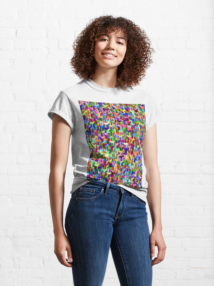 Alternate view of Visual Psychedelic Art, Easy Optical ILLusion Tessellation Classic T-Shirt
