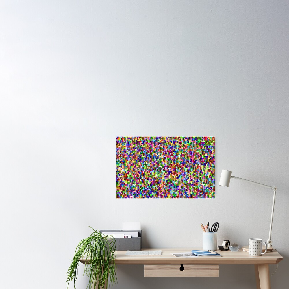 Visual Psychedelic Art, Easy Optical ILLusion Tessellation Poster