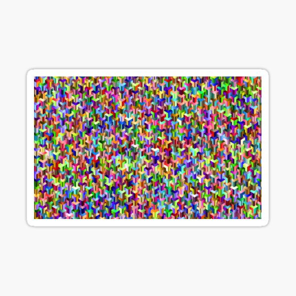 Visual Psychedelic Art, Easy Optical ILLusion Tessellation Sticker