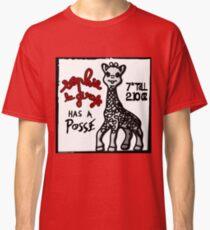 Sophie la Girafe Has A Posse Giraffe Retro Classic T-Shirt