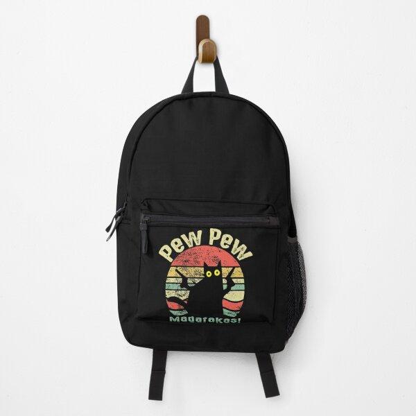 Retro Vintage Cat Pew Pew Madafakas Funny Cat Lovers Gift   Backpack