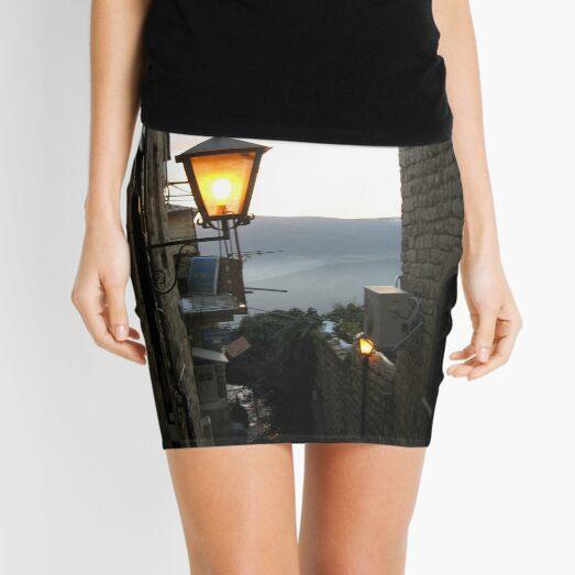 Israel, Alley, Street Light Mini Skirt