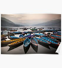 Colourful Boats Poster