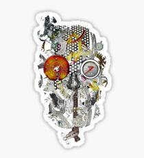 steam powered skull Sticker