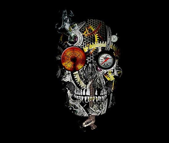 steam powered skull by tinncity