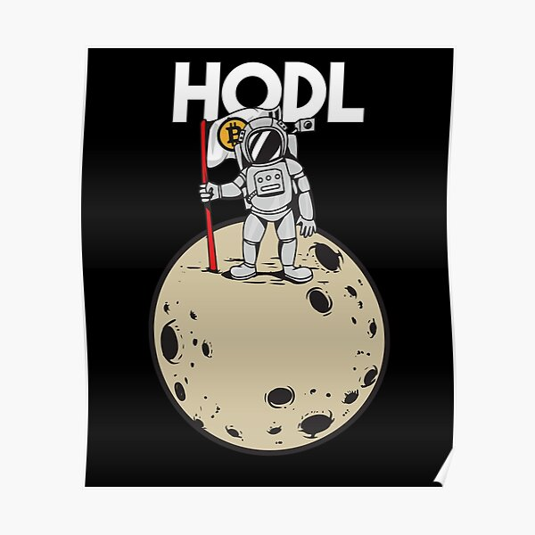 HODL Bitcoin, Cryptocurrency Funny Poster