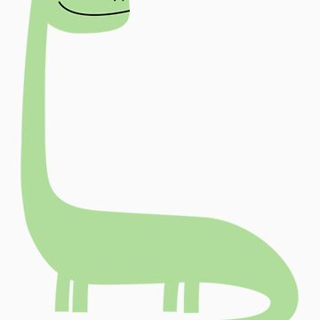 Green Brontosaurus  by Sandhop