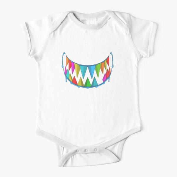 gooba shark Short Sleeve Baby One-Piece