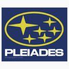 Pleiades Mythology Esoteric Mystery School Subaru Auto Logo by neoPOPart