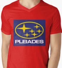 Pleiades Mythology Esoteric Mystery School Subaru Auto Logo Mens V-Neck T-Shirt