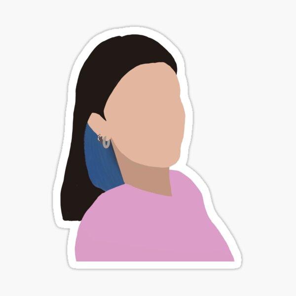 Charli Damelio with Blue Hair Sticker
