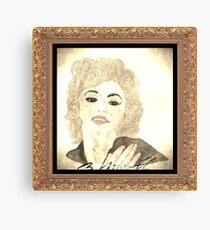Maradonna In Between Of Maralyn Manroe And Madonna Vintage Canvas Print