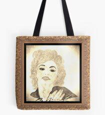 Maradonna In Between Of Maralyn Manroe And Madonna Vintage Tote Bag