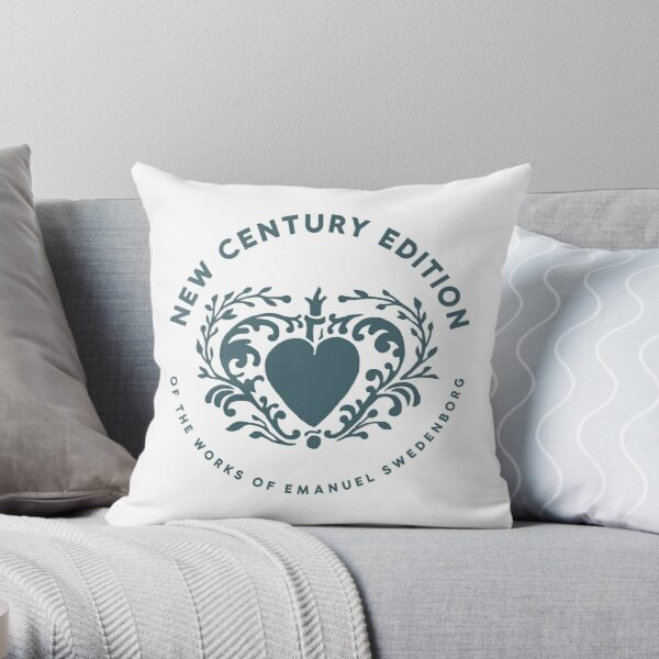 NCE stamp green Throw Pillow