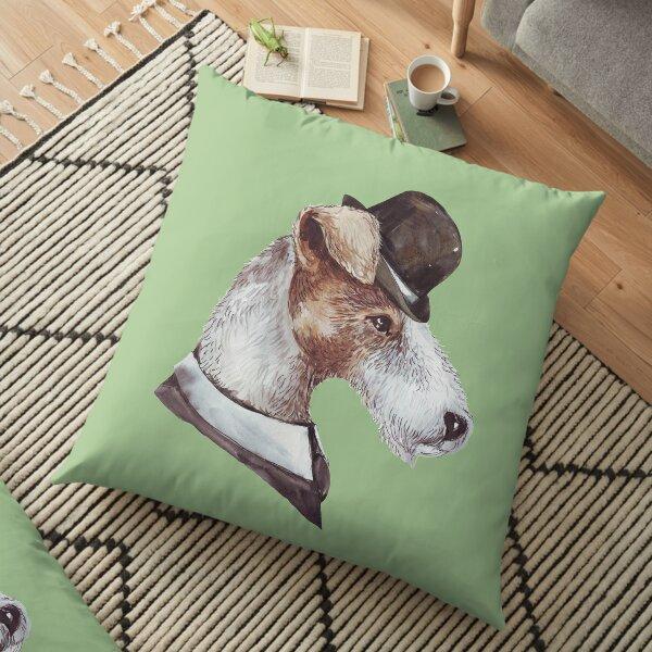 Gentlemen Dogz Fox Terrier Floor Pillow