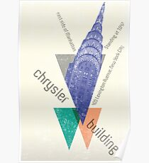 crysler building NY Poster