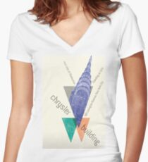 crysler building NY Women's Fitted V-Neck T-Shirt