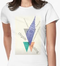 crysler building NY Women's Fitted T-Shirt