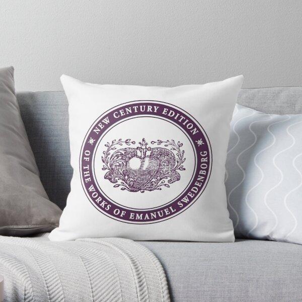NCE logo purple Throw Pillow