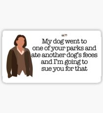 Another Dog's Feces Lady Parks and Recreation Sticker