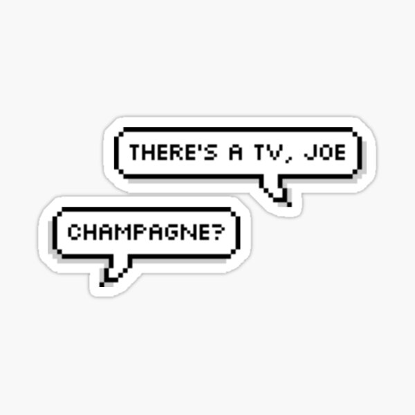 there's a tv, joe - joe and nicky - the old guard Sticker