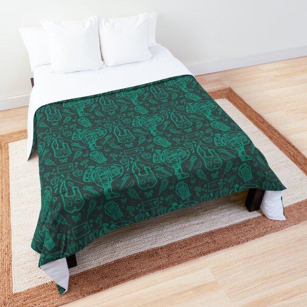Bioshock Rapture Items Pattern Blue Comforter