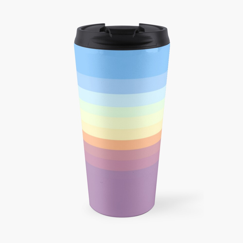 Rainbow pattern Travel Mug