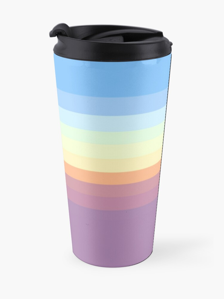 Alternate view of Rainbow pattern Travel Mug