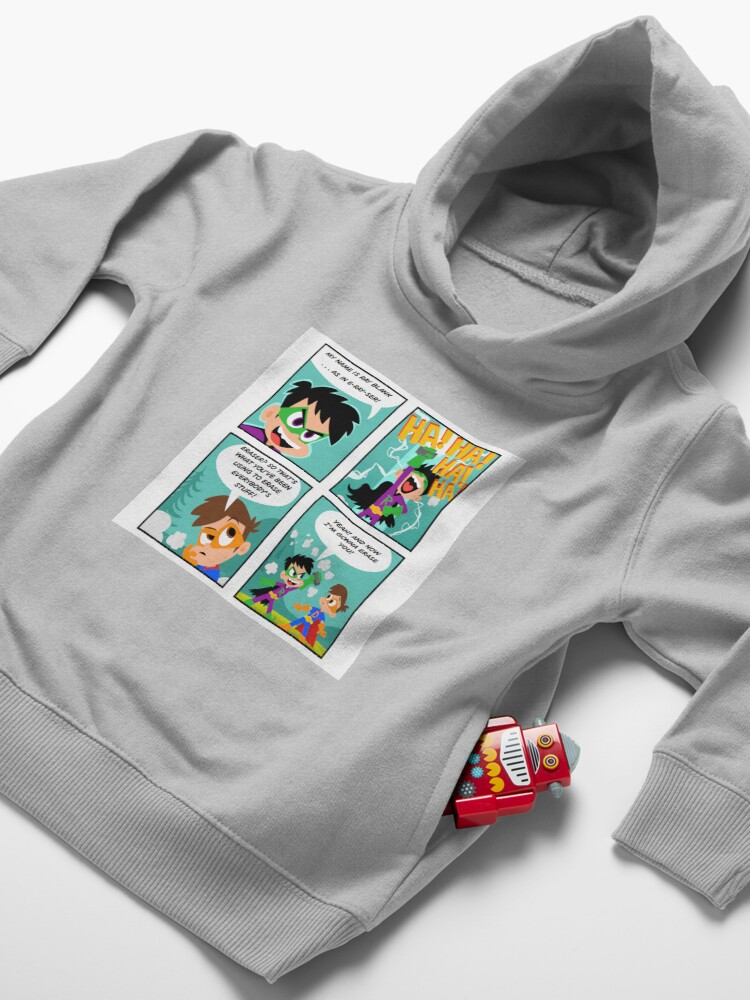 Alternate view of Drew Pendous Comic Cool School Toddler Pullover Hoodie