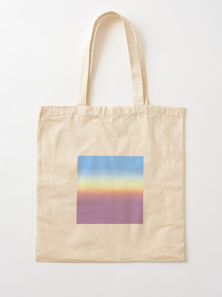 Alternate view of Rainbow pattern faded Tote Bag